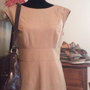 The Limited, sleeveless tan Midi, size 8